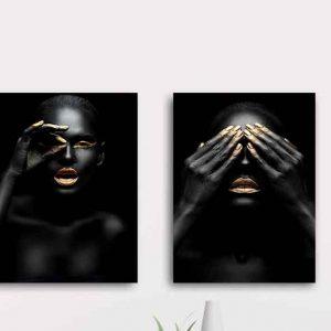 זוג תמונות נשים בשחור 3