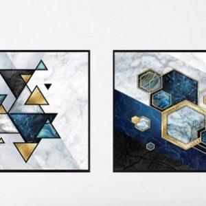 זוג תמונות צורות כחול עמוק