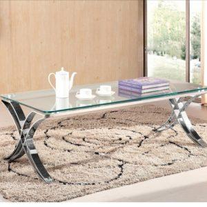 שולחן סלון זכוכית איקס